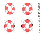 lifebuoy isolated. vector... | Shutterstock .eps vector #1249134937