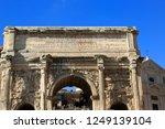 roman forum. rome  italy. ruins ... | Shutterstock . vector #1249139104