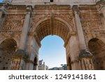 roman forum. rome  italy. ruins ... | Shutterstock . vector #1249141861
