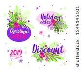 set of christmas sales icons....