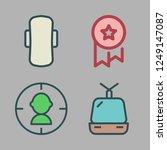 sport icon set. vector set...   Shutterstock .eps vector #1249147087