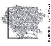 silver glitter texture square...   Shutterstock .eps vector #1249179331
