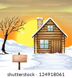 illustration of a log cabin and ...