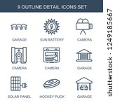 detail icons. set of 9 outline... | Shutterstock .eps vector #1249185667