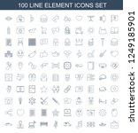 element icons. set of 100 line...   Shutterstock .eps vector #1249185901