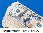 close up of new hundred dollar... | Shutterstock . vector #1249186627