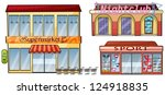 illustration of a supermarket ... | Shutterstock .eps vector #124918835