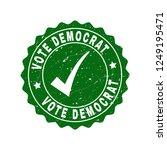 vector vote democrat grunge... | Shutterstock .eps vector #1249195471