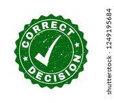 vector correct decision grunge...   Shutterstock .eps vector #1249195684
