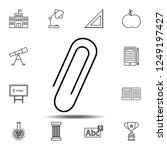 paper clip icon. simple outline ...