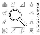 magnifying glass icon. simple...
