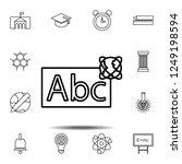 abc whiteboard outline icon....