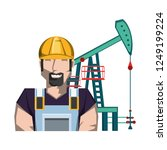 oil excavation drill industry... | Shutterstock .eps vector #1249199224