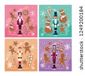 set of nutcracker toy isolated... | Shutterstock .eps vector #1249200184