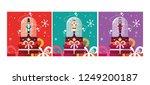 set of nutcracker toy isolated... | Shutterstock .eps vector #1249200187