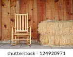 Rocking Chair And Hay Stack On...