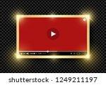 golden shining modern video red ...