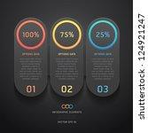 modern black infographics... | Shutterstock .eps vector #124921247