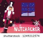 nutcracker soldier with tree... | Shutterstock .eps vector #1249212574