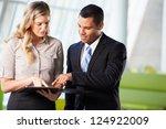 businessman and businesswomen... | Shutterstock . vector #124922009
