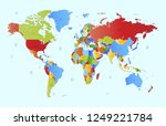 color world map vector | Shutterstock .eps vector #1249221784