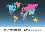 color world map vector | Shutterstock .eps vector #1249221787