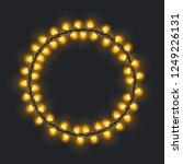 circular festive yellow glowing ...   Shutterstock .eps vector #1249226131