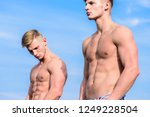 attractive muscular twins....   Shutterstock . vector #1249228504