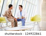 Doctor Counselling Soldier...