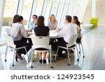business people having board... | Shutterstock . vector #124923545