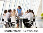 business people having board... | Shutterstock . vector #124923551