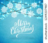 merry christmas party poster... | Shutterstock .eps vector #1249237987