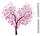 Abstract Vector Heart Tree ...