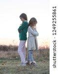 the conflict between siblings.... | Shutterstock . vector #1249255861
