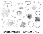 tangled shapes on white. hand... | Shutterstock .eps vector #1249258717
