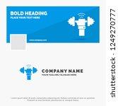 blue business logo template for ... | Shutterstock .eps vector #1249270777