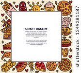 square bakery text template.... | Shutterstock .eps vector #1249281187