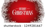 snowflakes frame holiday...   Shutterstock .eps vector #1249281667