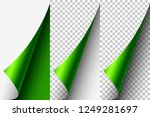curled page corner   Shutterstock .eps vector #1249281697