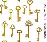 antique bronze keys.   vector... | Shutterstock .eps vector #1249294651