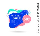 winter sale banner design with... | Shutterstock .eps vector #1249298704