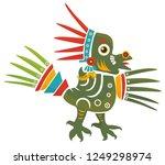 aztec codex borbonicus art... | Shutterstock .eps vector #1249298974