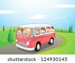 illustration of little children ... | Shutterstock .eps vector #124930145