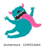 crazy character jumping monster ... | Shutterstock .eps vector #1249314664