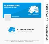 blue business logo template for ... | Shutterstock .eps vector #1249315051
