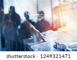 team of business person works... | Shutterstock . vector #1249321471