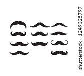 mustache illustration vector... | Shutterstock .eps vector #1249325797