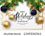 holidays greeting card for... | Shutterstock .eps vector #1249336561