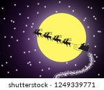 silhouette santa claus sleigh.... | Shutterstock . vector #1249339771