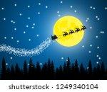 illustration of santa driving... | Shutterstock . vector #1249340104